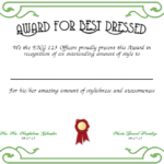 Best Dressed Award Certificates Printable | Activity Shelter Regarding Best Dressed Certificate