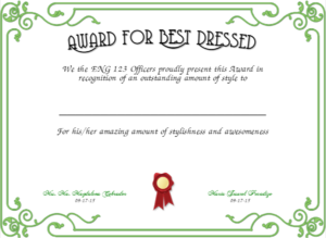 Best Dressed Award Certificates Printable | Activity Shelter regarding Best Dressed Certificate Templates