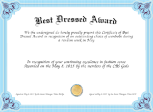 Best Dressed Award – Fashion Dresses in Fresh Best Dressed Certificate