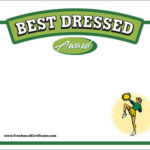 Best Dressed Certificate – Cheerleading Award Templates Pertaining To New Best Dressed Certificate Templates