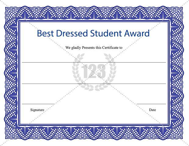 Best Dressed Student Award Certificate Template Download inside Best Dressed Certificate Templates