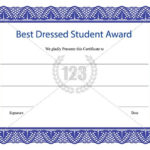 Best Dressed Student Award Certificate Template Download With Regard To Best Dressed Certificate