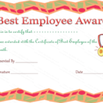 Best Employee Award Certificate | Employee Awards, Employee intended for Quality Best Employee Certificate Template