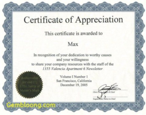 Best Employee Award Certificate Templates (5) – Templates pertaining to Quality Best Employee Certificate Template