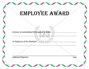 Best Employee Award Template Download Now intended for Best Employee Certificate Template