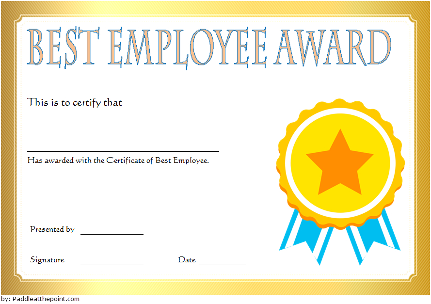 Best Employee Certificate Template 9 In 2020 | Employee throughout New Certificate Of Employment Templates Free 9 Designs