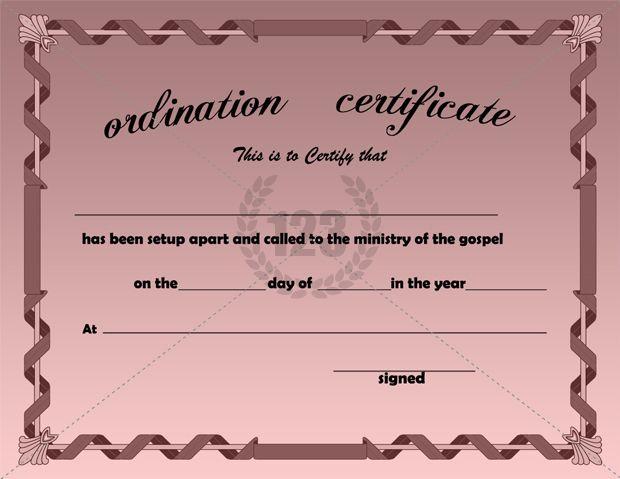 Best Ordination #Certificate #Templates   Certificate pertaining to Unique Ordination Certificate Templates