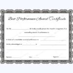 Best Performance Award Certificate 03 – Word Layouts Throughout Best Best Performance Certificate Template