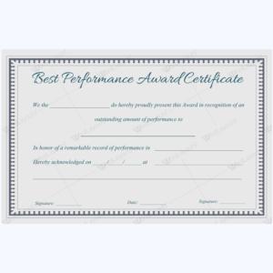 Best Performance Award Certificate 08 – Word Layouts | Award in Best Performance Certificate Template