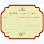 Best Performance Award Certificate 10 – Word Layouts Within Best Best Performance Certificate Template