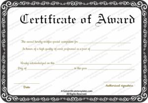 Best Performance Award Certificate Template in Best Best Performance Certificate Template