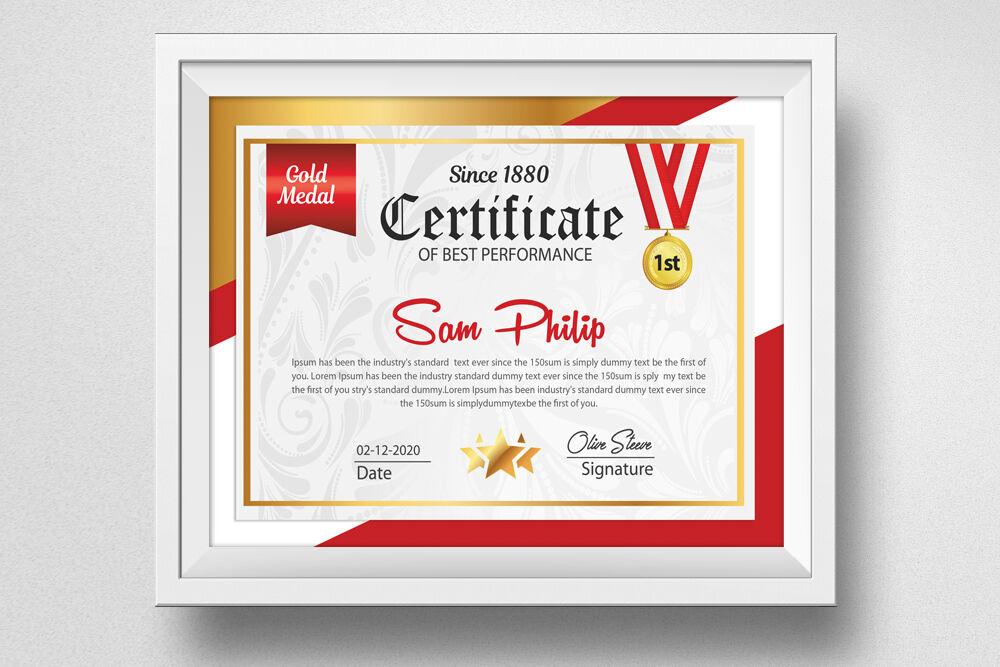 Best Performance Certificate Templatedesignhub regarding Best Performance Certificate Template