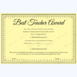 Best Teacher Award 06 – Word Layouts | Teacher Awards, Award Pertaining To New Best Teacher Certificate Templates