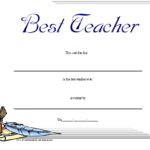 Best Teacher Certificate Printable Certificate | Teacher Regarding Best Teacher Certificate Templates
