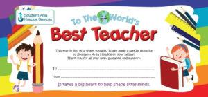 Best Teacher Gift Certificate inside Best Teacher Certificate