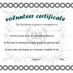 Best Volunteer Certificate Templates Download | Certificate In Fresh Volunteer Certificate Templates