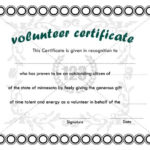 Best Volunteer Certificate Templates Download | Certificate intended for Best Outstanding Volunteer Certificate Template