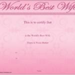 Best Wife Certificate Template Download Printable Pdf Inside Fresh Best Wife Certificate Template