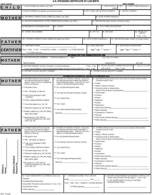 Birth Certificate - An Overview | Sciencedirect Topics within New Certificate For Best Dad 9 Best Template Choices
