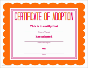 Birth Certificate Downtown Awful Toy Adoption Certificate throughout New Toy Adoption Certificate Template