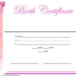 Birth Certificate Printable Certificate | Birth Certificate Throughout Best Baby Doll Birth Certificate Template
