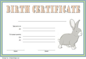 Birth Certificate Template For Rabbit Free 2 In 2020 | Birth within Fresh Rabbit Birth Certificate Template Free 2019 Designs