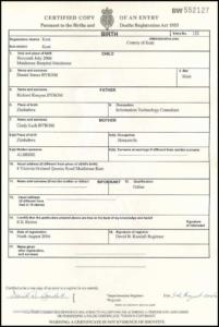 Birth Certificate Template Uk (8) | Professional Templates for New Birth Certificate Template Uk
