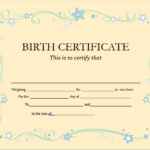 Birth Certificate Templates – 14 Free Templates In Ms Word With Regard To New Birth Certificate Template For Microsoft Word