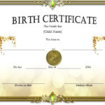 Birth Certificate Templates – Microsoft Word Templates With Birth Certificate Templates For Word