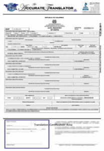 Birth Certificate Translation Of Public Legal Documents throughout Fresh Death Certificate Translation Template