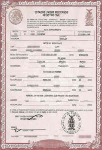 Birth Certificate Translation Services For Uscis, Fast And Cheap inside Mexican Birth Certificate Translation Template
