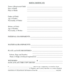 Birth Certificate Translation Template (7) | Professional Regarding Unique Birth Certificate Translation Template English To Spanish