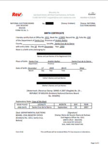 Birth Certificate Translation Template Uscis (1) – Templates regarding New Birth Certificate Translation Template Uscis