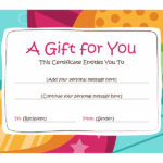 Birthday Gift Certificate (Bright Design) – Templates | Free With Regard To Holiday Gift Certificate Template Free 10 Designs