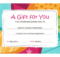 Birthday Gift Certificate (Bright Design) - Templates | Free with regard to Holiday Gift Certificate Template Free 10 Designs