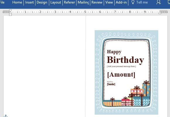 Birthday Gift Certificate Card Template For Word pertaining to Quality Microsoft Gift Certificate Template Free Word