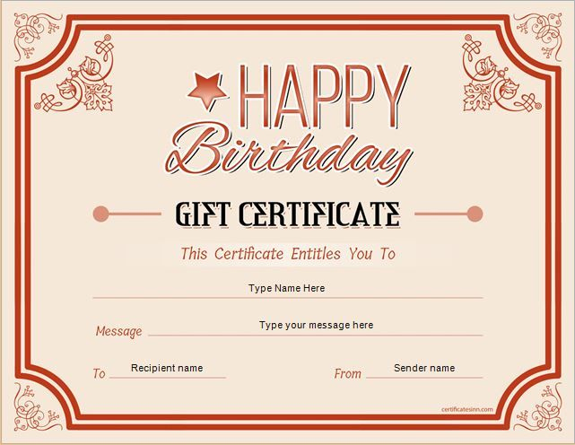 Birthday Gift Certificate For Ms Word Download At Http with regard to Quality Birthday Gift Certificate