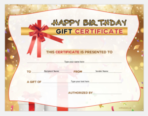 Birthday Gift Certificates For Ms Word   Word & Excel Templates inside Unique Happy Birthday Gift Certificate
