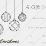 Black And White Christmas Gift Template | Christmas Gift In Christmas Gift Templates Free Typable