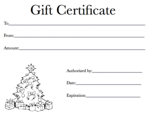 Black And White Gift Certificate Template Free (2 intended for Black And White Gift Certificate Template Free