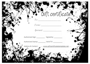 Black And White Gift Certificate Template Free | Gift within Tattoo Gift Certificate Template Coolest Designs