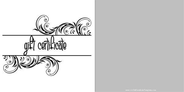 Black And White Gift Voucher With A Simple Clean Design for Black And White Gift Certificate Template Free