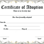 Blank Adoption Certificate Template (9) – Templates Example Inside Blank Adoption Certificate Template