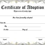 Blank Adoption Certificate Template (9) - Templates Example throughout Adoption Certificate Template