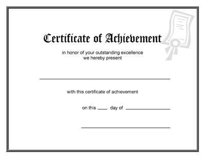 Blank Award Certificate Template in Free Printable Blank Award Certificate Templates