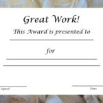 Blank Award Certificate Templates Word | Free Printable in Free Printable Certificate Of Achievement Template