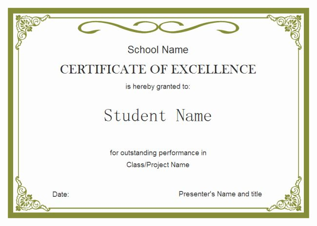 Blank Birth Certificate For School Project Best Of Student intended for Student Council Certificate Template 8 Ideas Free