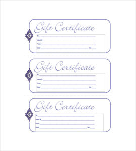 Blank-Blue-Small Business Gift Certificate-Template intended for Fresh Small Certificate Template