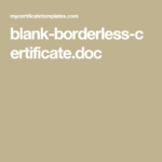 Blank Borderless Certificate.doc | Blanks, Templates, Lockscreen Pertaining To Borderless Certificate Templates