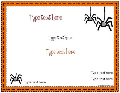 Blank Certificate - Halloween Certificate Template within Fresh Halloween Gift Certificate Template Free